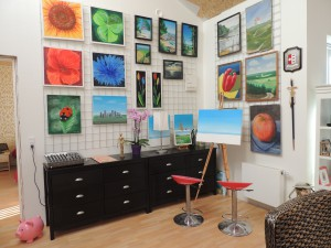 Johns atelier i stuen
