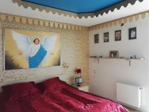 Soveværelset og himlen i dagslys